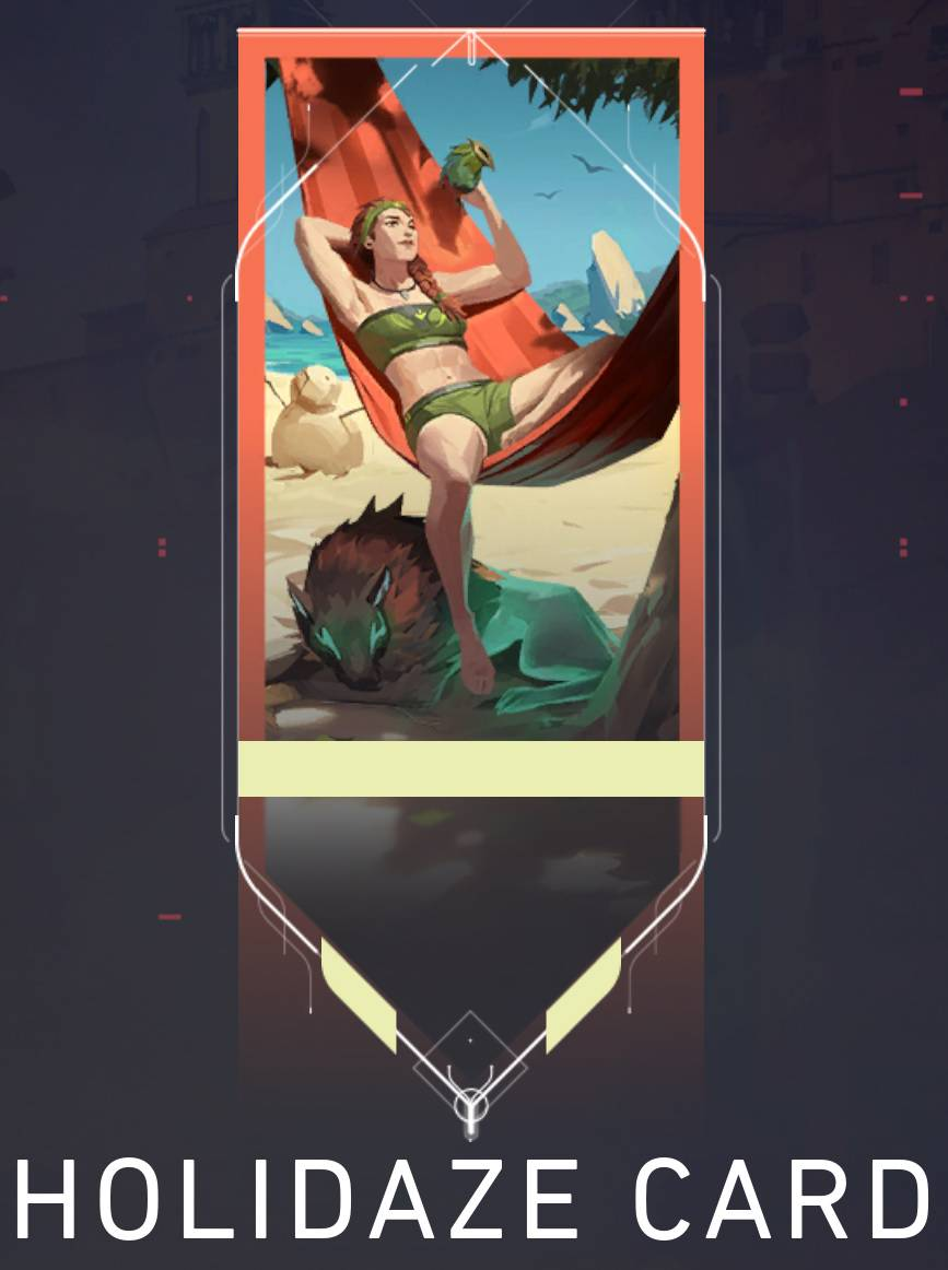 The Holidaze player card features Skye and is available as the free reward at the end of Chapter 5.
