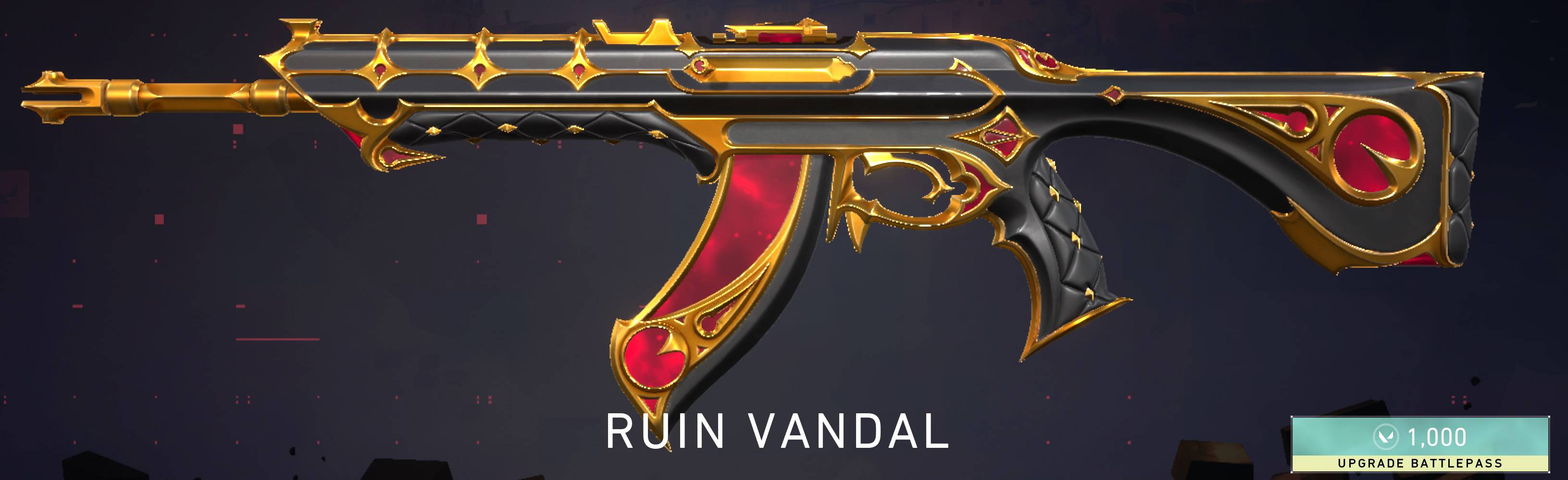 The Ruin Vandal skin is available at tier 45.